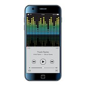 Vector Smartphone with equalizer effect