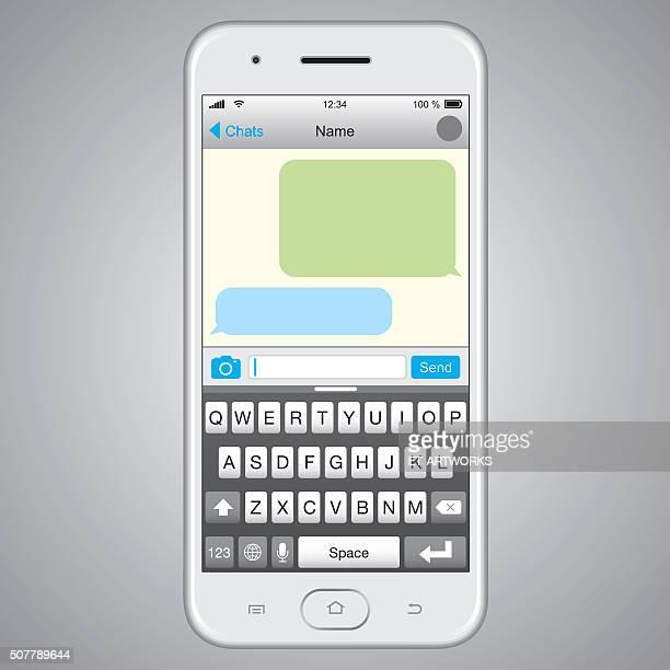 Vecteur Smartphone avec écran du Message