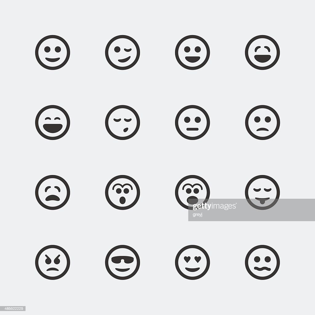 Vector smile mini icons set