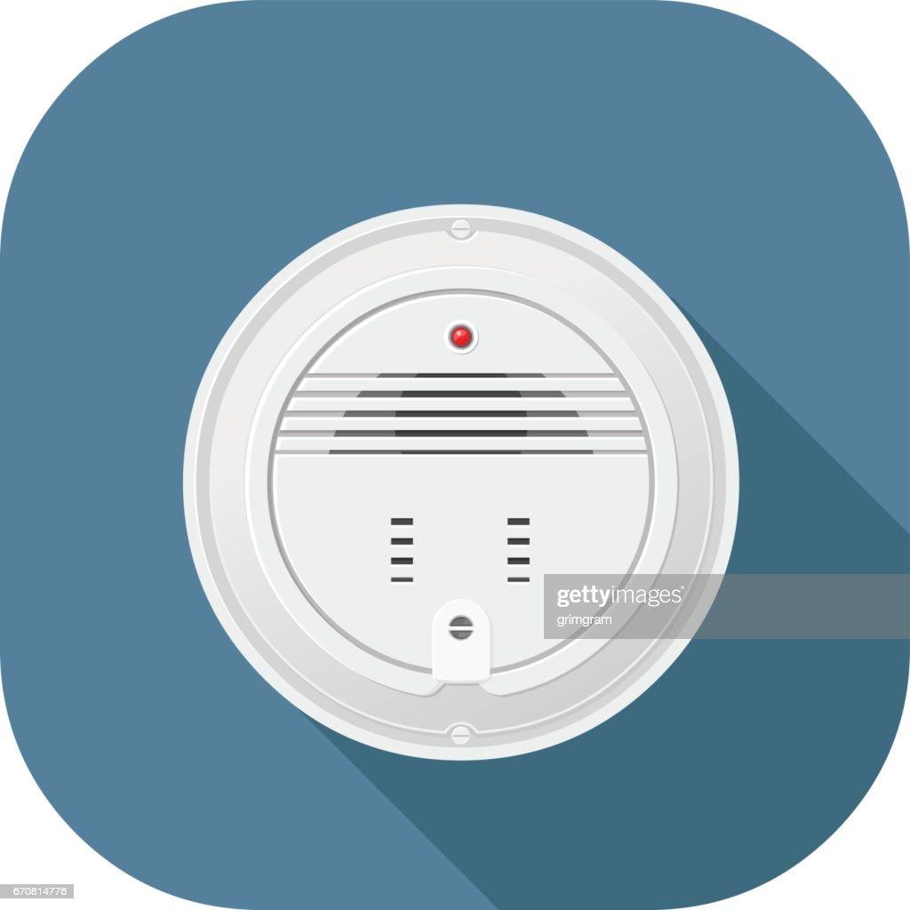 Vector smoke alarm flat icon design.