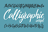 Vector smooth calligraphic script font