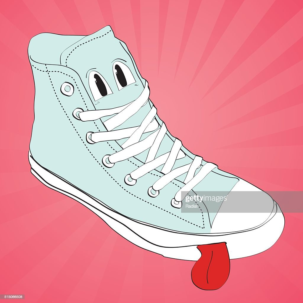 vector sneaker character cartoon  design