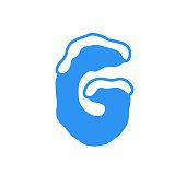 Vector Snow Letter Logo G