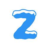 Vector Snow Letter Logo Z