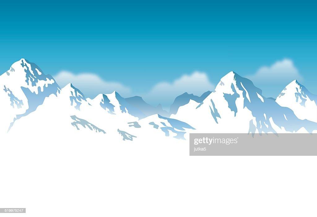 vector snowcapped mountain