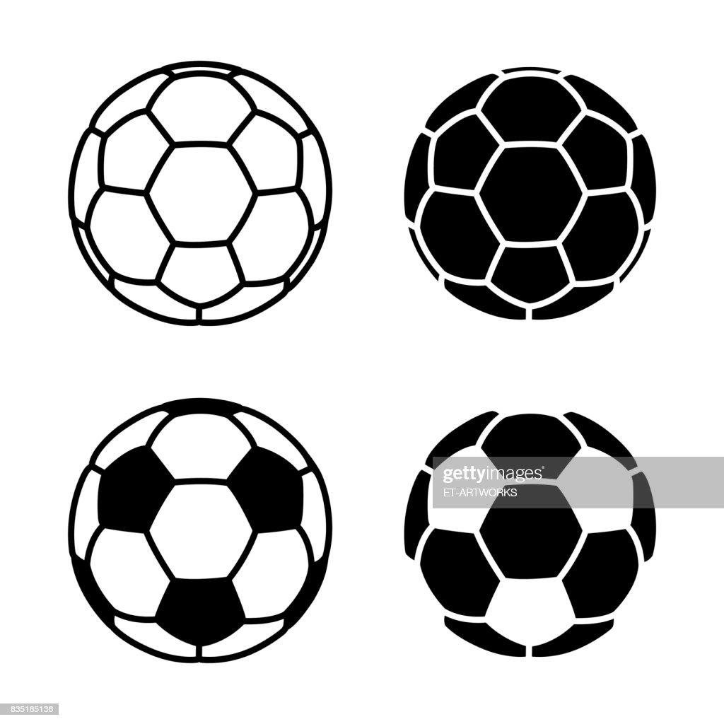 Vector Soccer Ball Icon on White Backgrounds : stock illustration