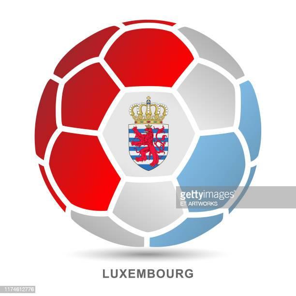白い背景にセルビアの国旗を持つベクトルサッカーボール - リュクサンブール州点のイラスト素材/クリップアート素材/マンガ素材/アイコン素材