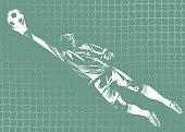 vector soccer (football) goalkeeper