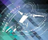 vector soccer (football) poster