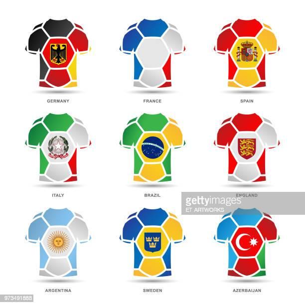 vector soccer uniforms - soccer uniform stock illustrations