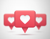 Vector social network Rating. Followers and like icon. Vector background