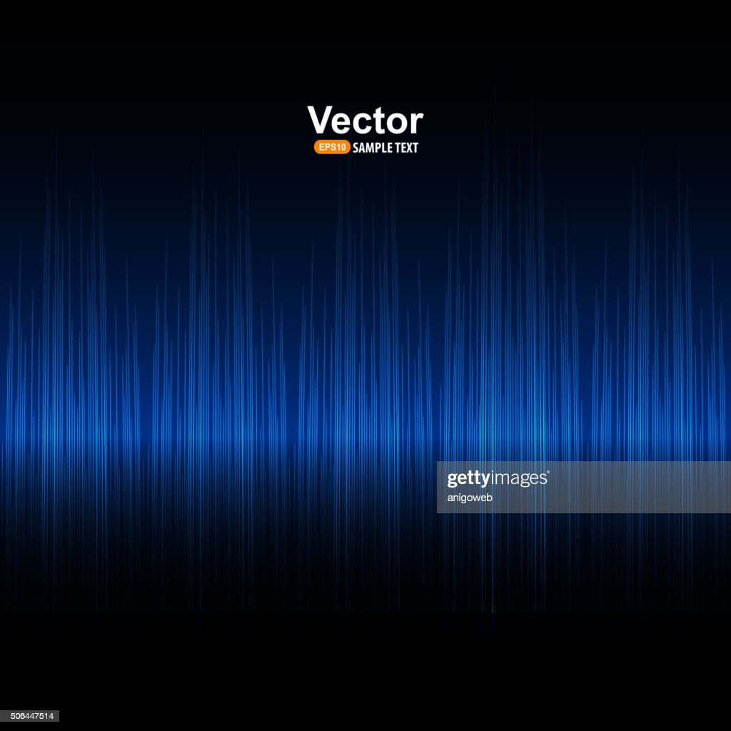 Vector sound blue equalizer