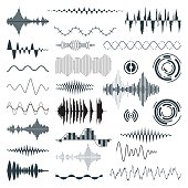 Vector Sound Waves Set. Audio