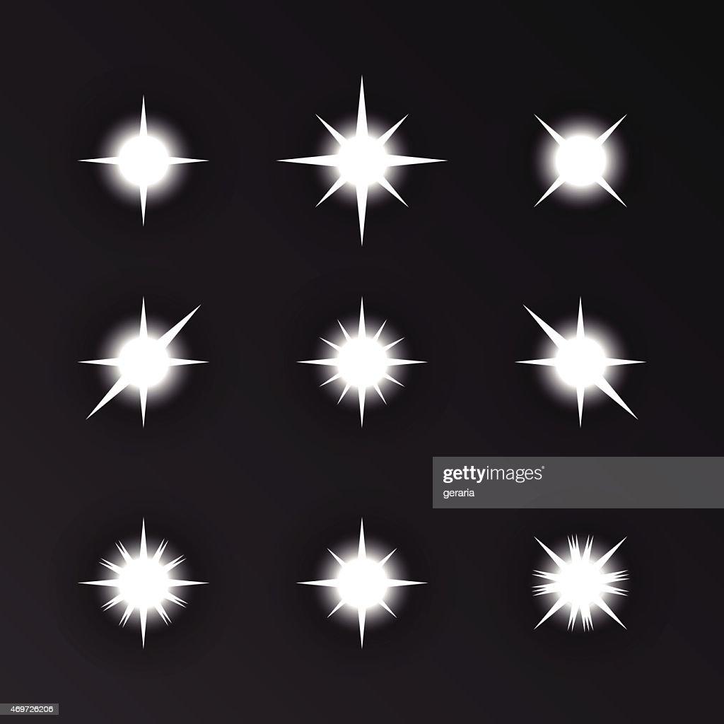 Vector sparkles.