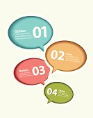 Vector speech bubble infographics