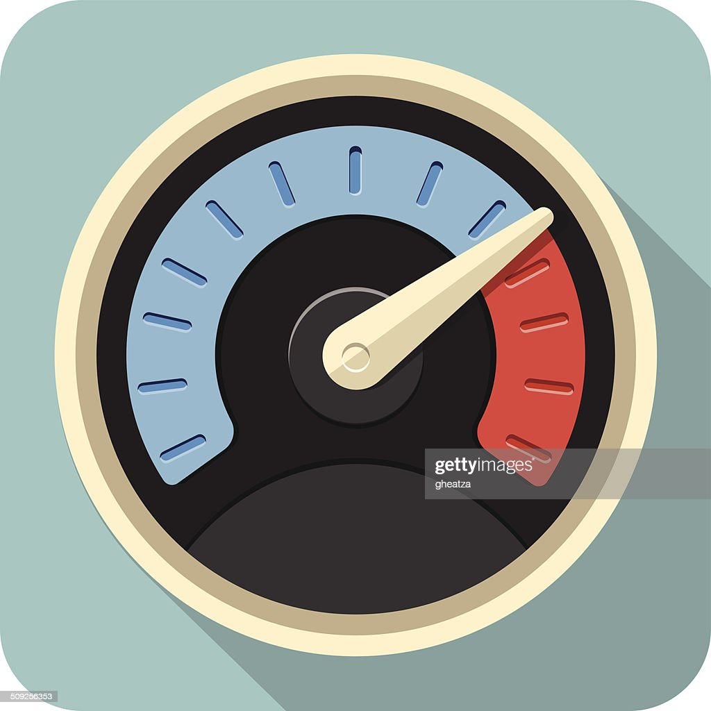 Vector Speedometer Flat Icon