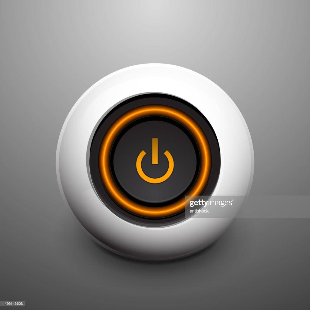 Vector sphere power button