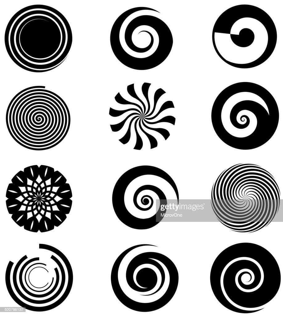 Vector spiral elements