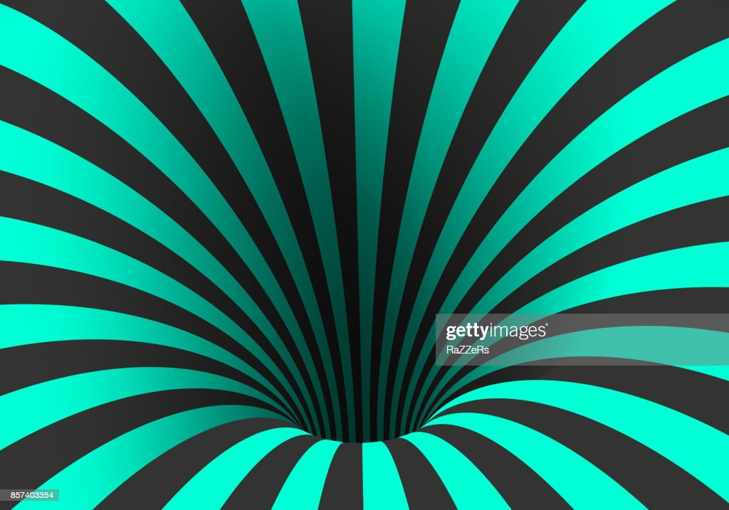Vector Spiral Optical Illusion Template Spiral Twisted Vortex Tunnel ...