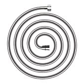 Vector spiral shaped shower hose isolated on white background.