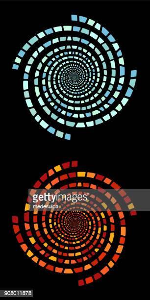 vector spiral - vortex stock illustrations, clip art, cartoons, & icons