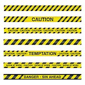 Vector Spiritual Caution Tape Illustration