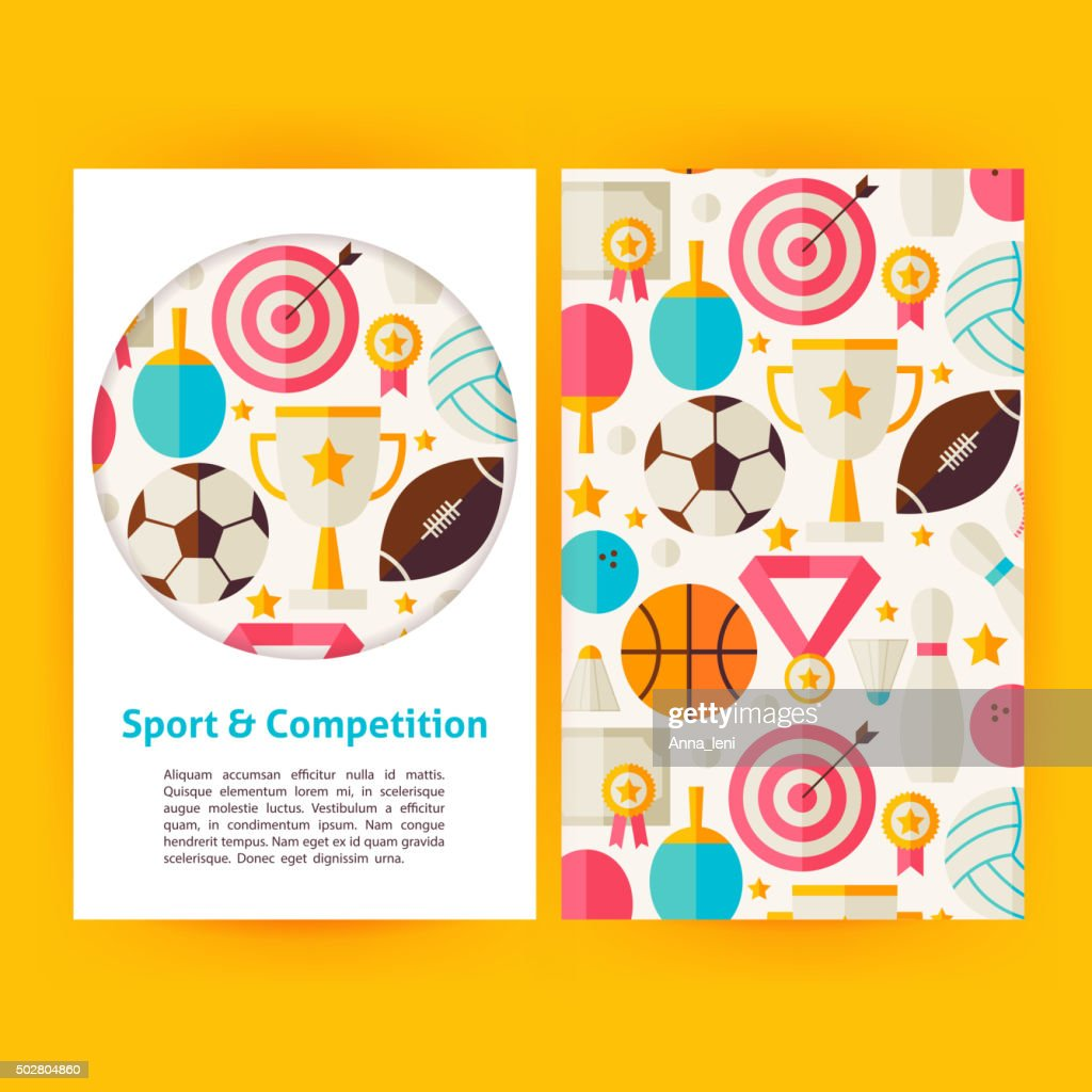 Vector Sport and Competition Banners Set Template