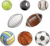 vector sport balls