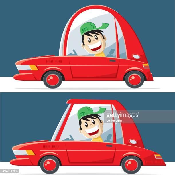 vector sport car and sedan