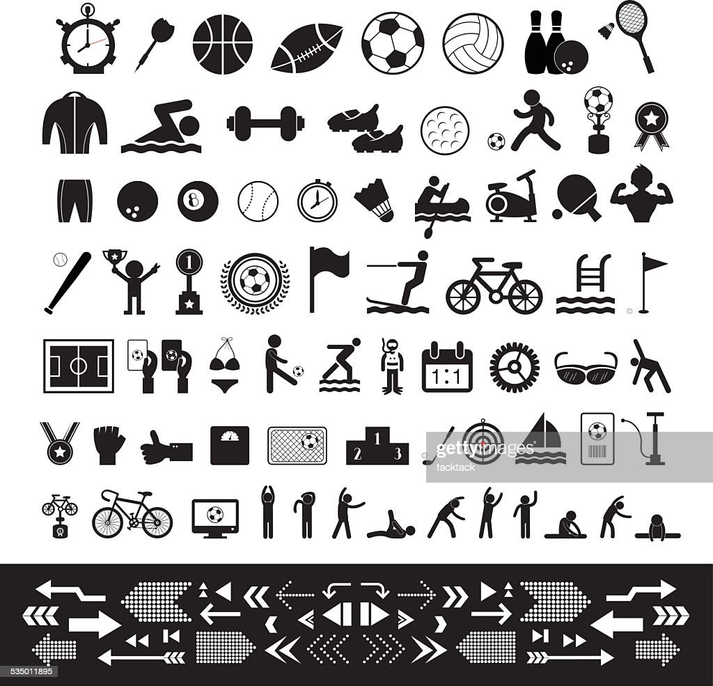 vector sports icon set