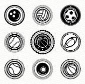 Vector sports labels
