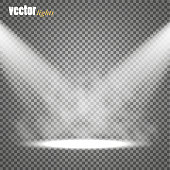 Vector Spotlights. Scene. Light Effects. Glow light effect