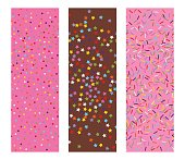 vector sprinkles stars, dots and lines