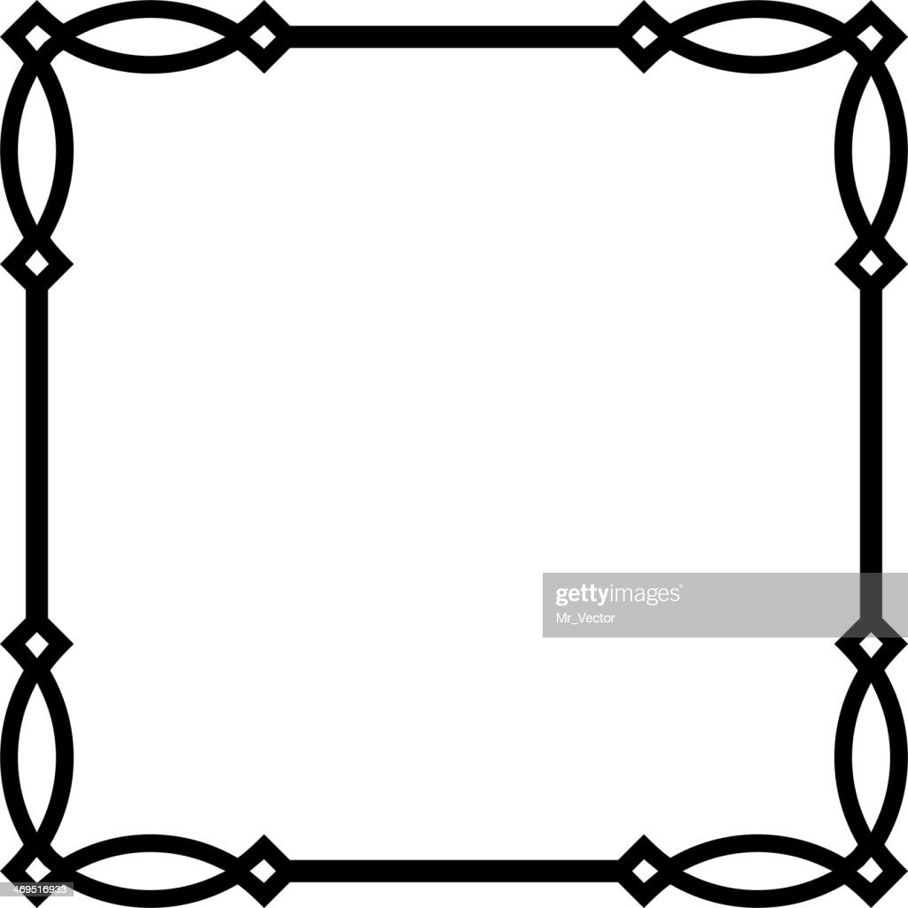 Vector square frame