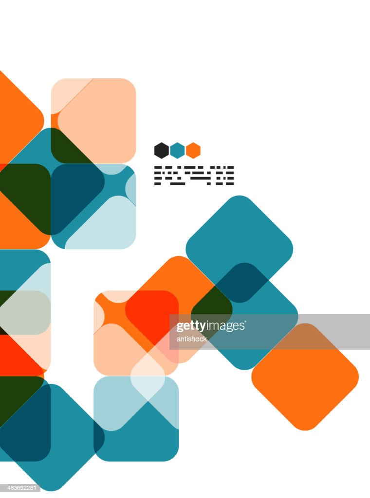 Vector square mosaic background