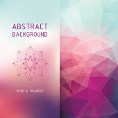 Vector square polygonal and blurred background