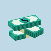 Vector stack of dollars icon