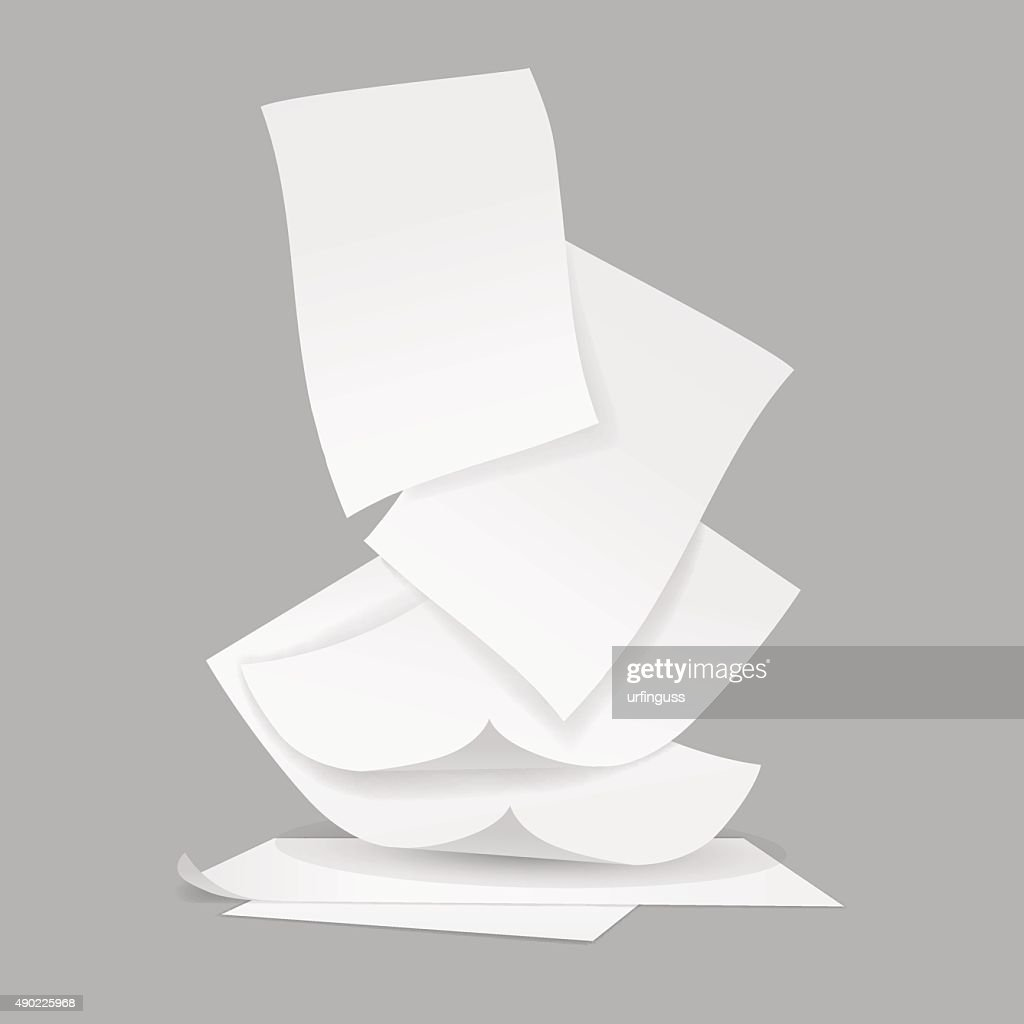 vector stack of papers