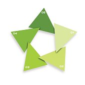 vector star for recycle, infographic for business project