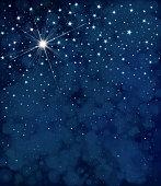 Vector starry  night sky  background.