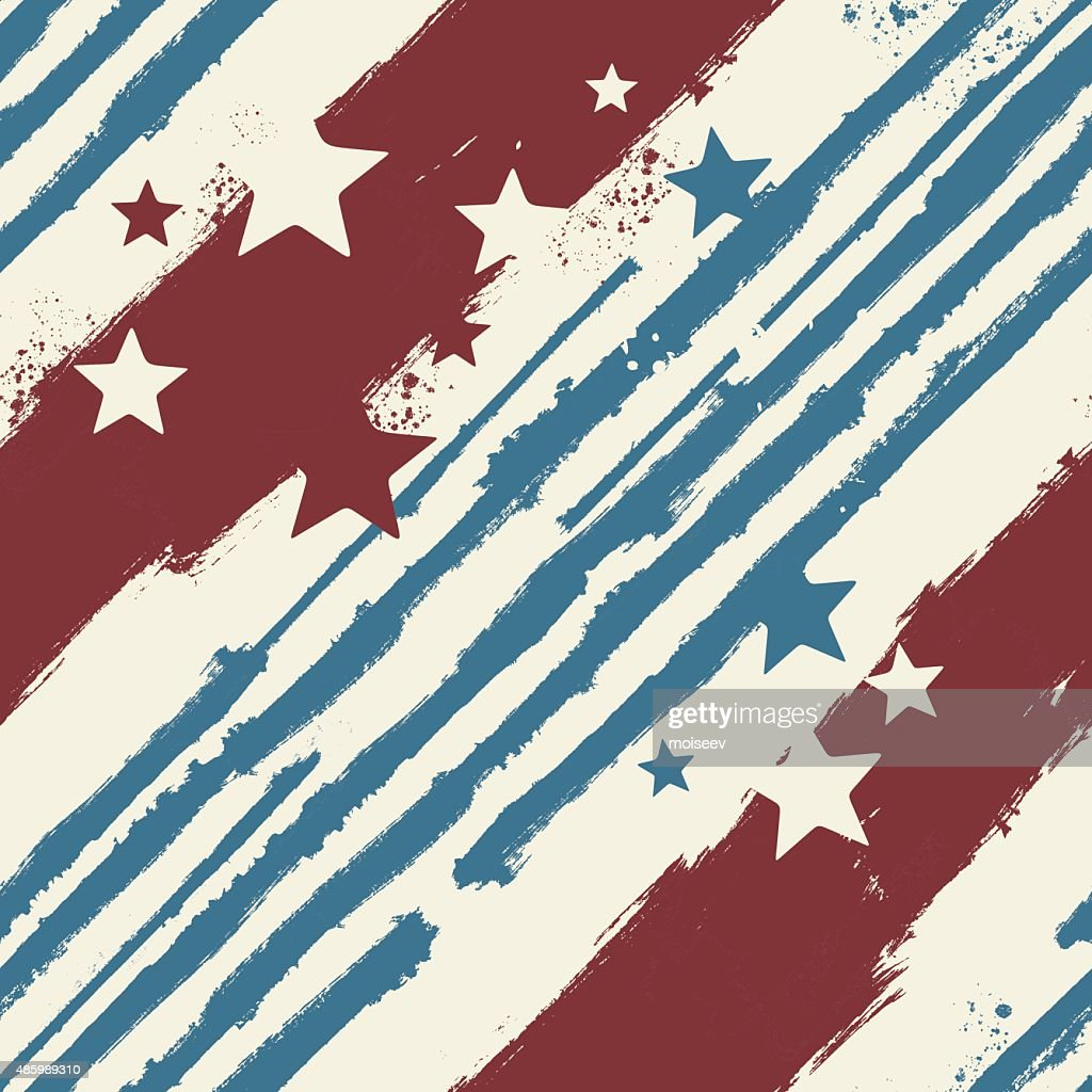 Vector Stars and Stripes seamless pattern