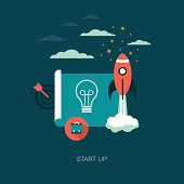 vector start up business concept illustration