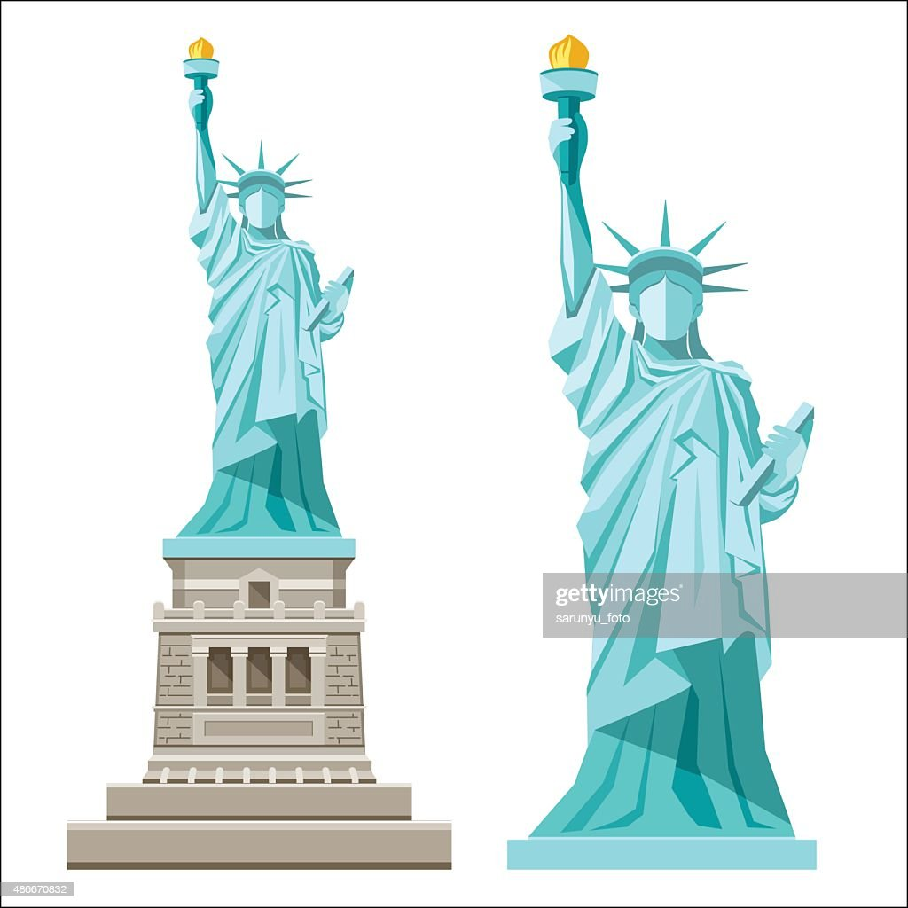 Vector Statue of liberty of america
