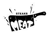 Vector steak emblem