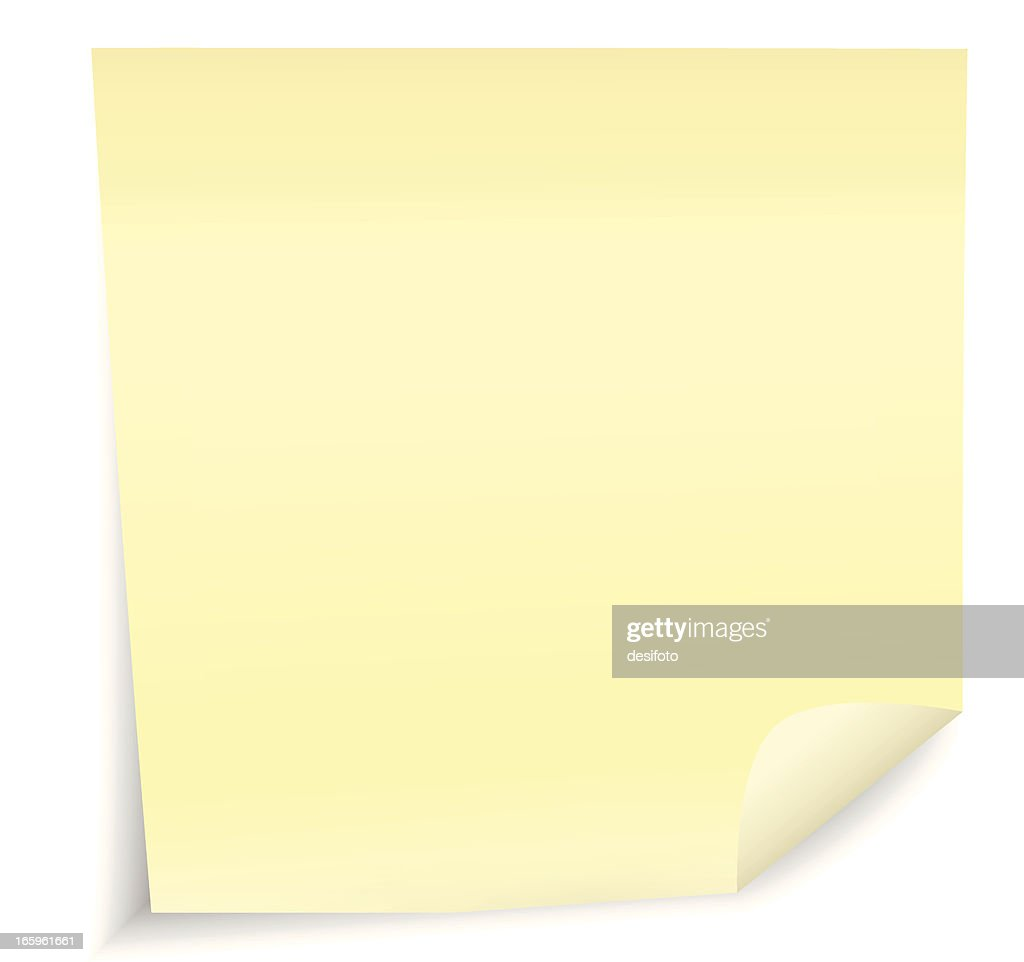 Vector sticky note with shadow