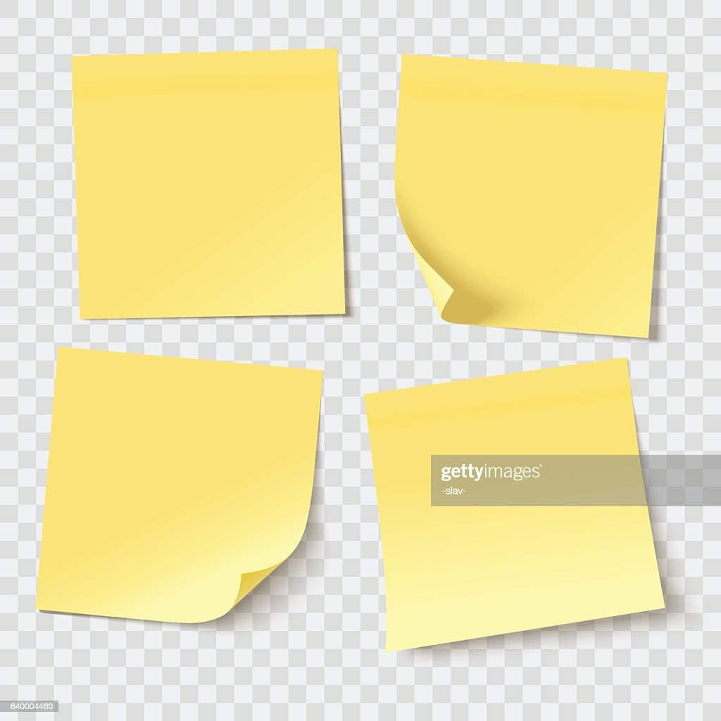 vector sticky notes