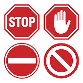 Vector Stop Sign Icons