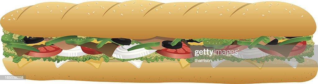 Vector Sub sándwich : Ilustración de stock