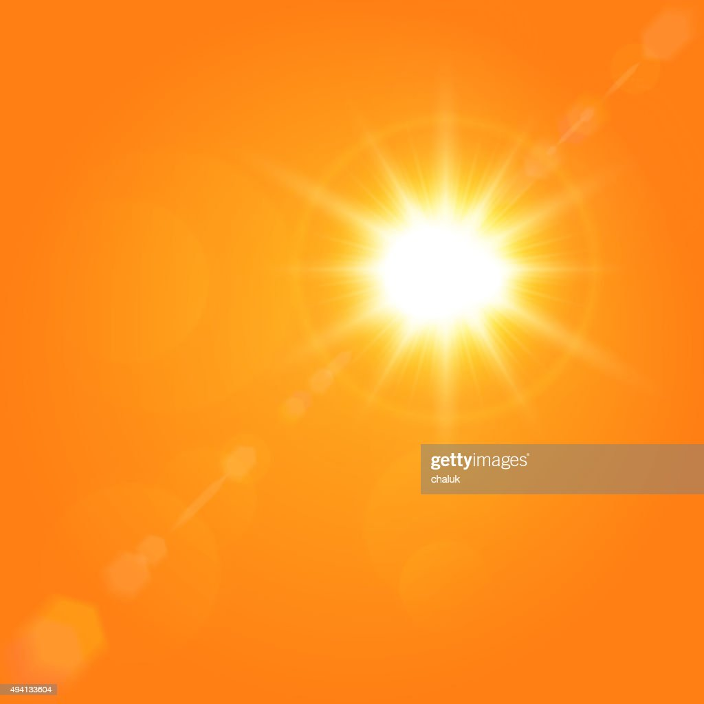 Vector summer background with a magnificent sun beam