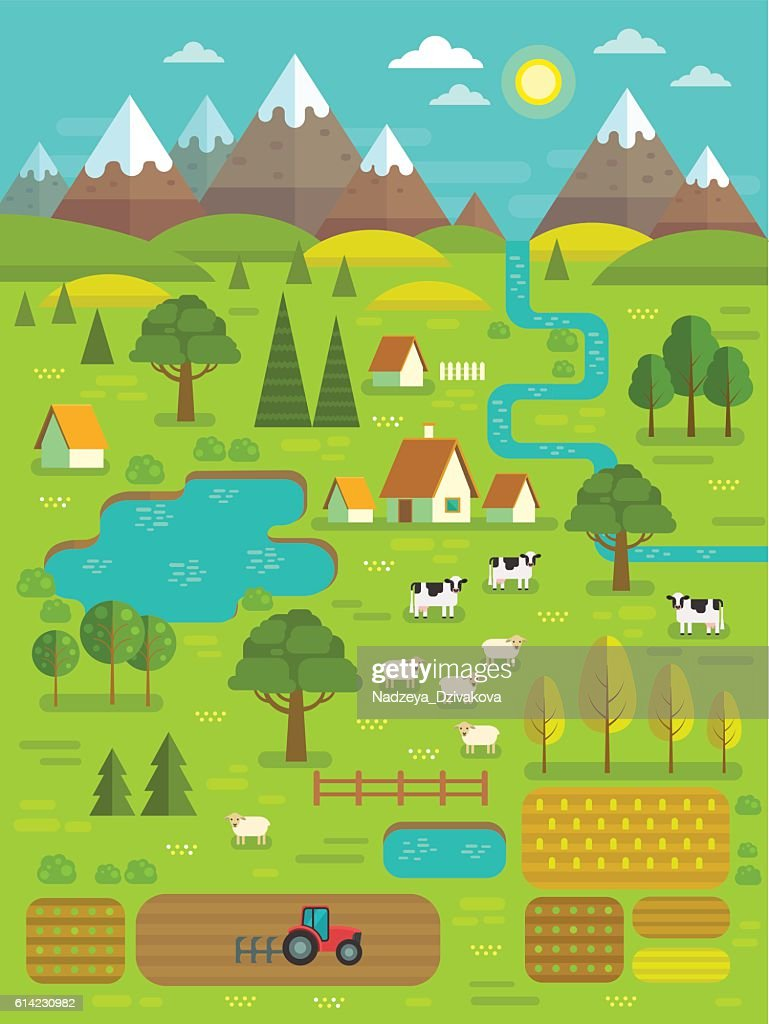 Vector summer landscape.